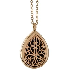 Jewelry - Gold Aromatherapy Diffuser Teardrop Necklace